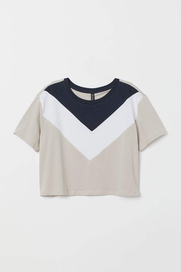 Color-block T-shirt - Brown