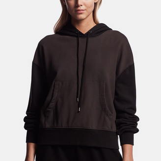 James Perse Sueded Terry Two-Tone Hoodie