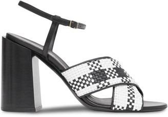 Burberry Crossover Strap Sandals