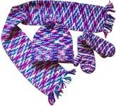 N'Ice Caps TM N'Ice Caps Little Kids Unisex Digital Print Knitted Hat/Scarf/Mitten Set