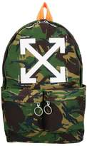 Off-White Camouflage Cotton Backpack