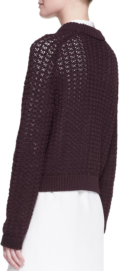 3.1 Phillip Lim Open-Knit Pullover Sweater