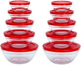 Red Lid Mixing Bowl Set