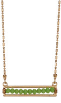 Stephan & Co Beaded Bar Necklace