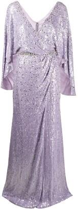 Jenny Packham Audrey sequin draped dress