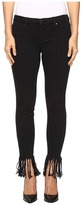 Blank NYC Released Hem/Fray Black Crop Skinny in Be A Frayed