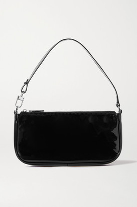 BY FAR Rachel Patent-leather Shoulder Bag - Black