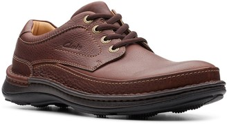Clarks Nature Three Leather Shoes - Mahogany