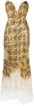 Ermanno Scervino Sequin Detail Evening Dress