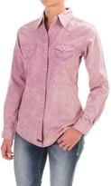 Wrangler Cotton Yoked Shirt - Snap Front, Long Sleeve (For Women)