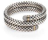 John Hardy Dot Diamond, 18K Yellow Gold & Sterling Silver Double Coil Bracelet