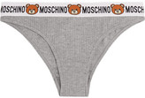 Moschino Ribbed Cotton-jersey Briefs - Light gray