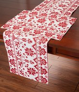 Southern Living Holiday Folk Embroidered Table Linens