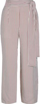 Iris & Ink Zinnia Striped Twill Wide-leg Pants