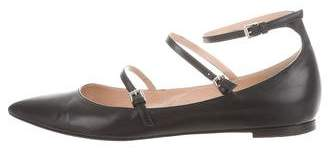 Gianvito Rossi Leather Buckle Flats