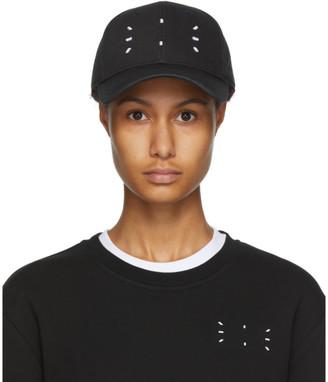McQ Black Contrast Baseball Cap