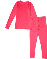 Asstd National Brand Cuddl Duds 2-pc. Pink Solid Pajama Set - Girls 4-16