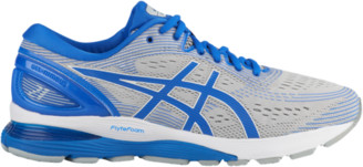 Asics GEL-Nimbus 21 Lite Show Running Shoes - Mid Grey / Illusion Blue