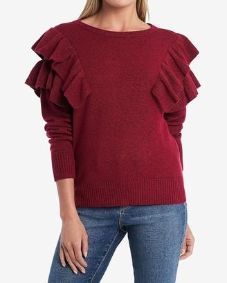 Express 1.State Long Sleeve Ruffle Sweater