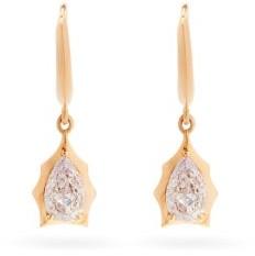 Jade Trau - Envoy Diamond & 18kt Rose Gold Huggie Earrings - Rose Gold