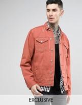 Reclaimed Vintage Oversized Denim Jacket In Overdye