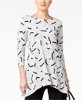 Alfani Geo-Print Swing Top, Only at Macy's