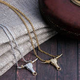 Pearl & Queenie Longhorn Charm Necklace