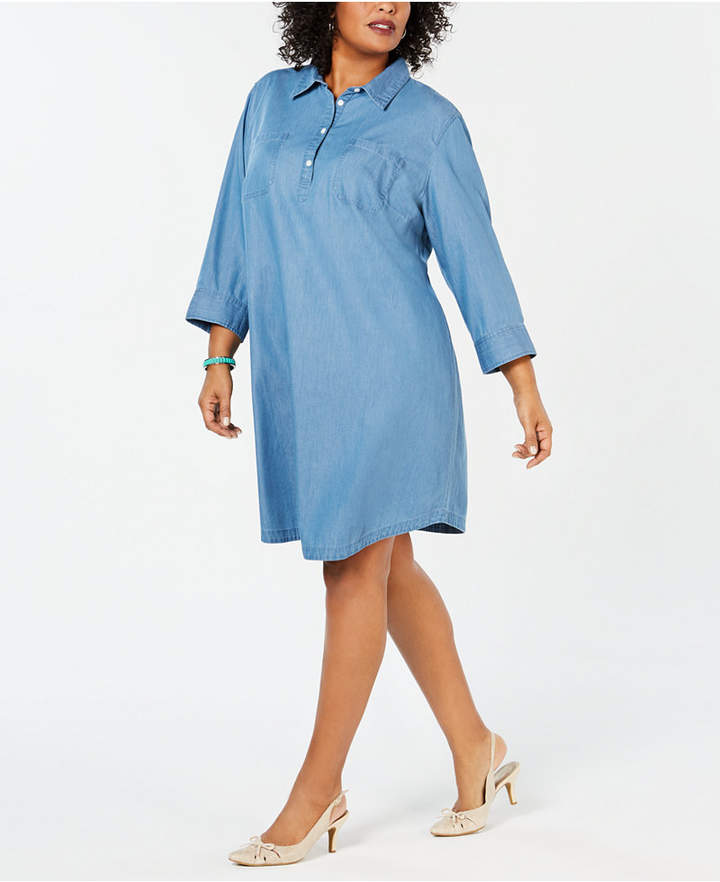 Plus Size Chambray Dress - ShopStyle