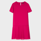 Paul Smith Women's Fuchsia Dress With Pleated Hem
