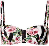 Dolce & Gabbana Printed Bikini Top - Antique rose