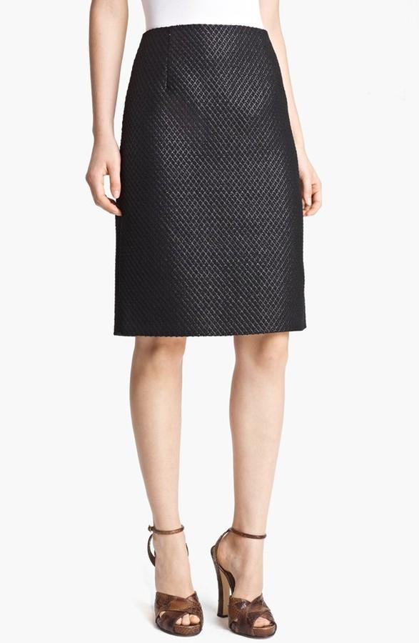 Marc Jacobs Jacquard Pencil Skirt