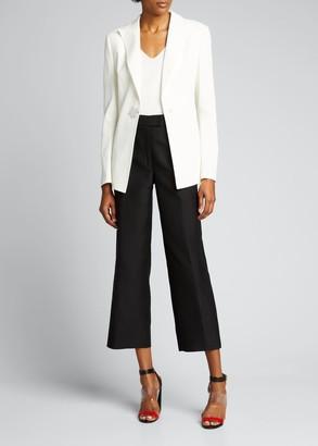 Akris V-Neck Raglan-Sleeve Stretch Silk Pullover