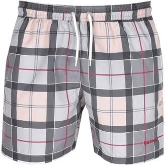 Barbour Tartan Swim Shorts Grey