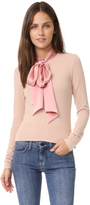Alice + Olivia Emmanuel Tie Neck Top