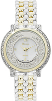Geneva Platinum Two-Tone Crystal-Accent Bracelet Watch