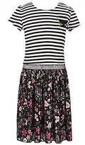 Jessica Simpson Big Girls 7-16 Teni Striped/Floral Dress