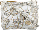 Carlos Falchi Metallic Leather Crossbody Bag
