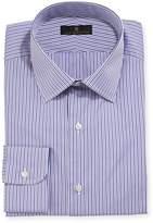 Ike Behar Gold Label Striped Dress Shirt, Purple/Gray