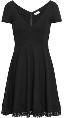RED Valentino Lace-trimmed Cady Mini Dress