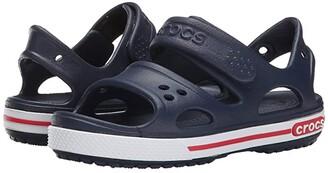 Crocs Crocband II Sandal (Toddler/Little Kid) (Navy/White) Kids Shoes