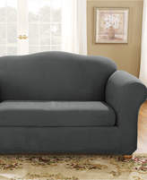 Sure Fit Stretch Suede Box Cushion Loveseat Slipcover