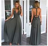 Manyis Women Evening Dress Convertible Multi Way Wrap Bridesmaid Formal Long Dresses XL