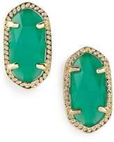 Kendra Scott KendraScott Ellie Birthstone Stud May/ Emerald Cats Eye Earrings