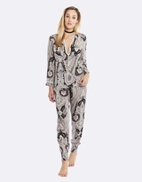 Deshabille Harmony Long Pj Set Black / Pink