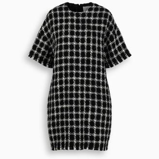 Valentino Ivory/black check mini dress