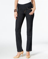 Jag Petite Peri Pull-On Late Night Wash Straight-Leg Jeans