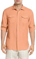 Tommy Bahama New Sand Linen Blend Regular Fit Long Sleeve Shirt