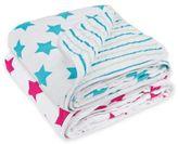 Lassig Stars & Stripes Cozy Swaddle & Burp Blanket