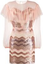 Three floor Daydreaming sequinned mini dress