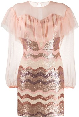 Three floor Daydreaming sequinned mini dress